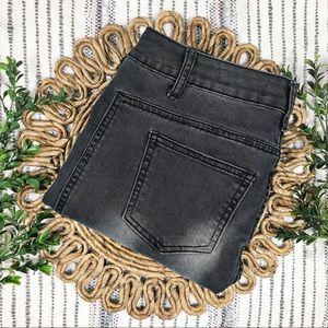 Cotton On Ankle Grazer Moto Black Denim